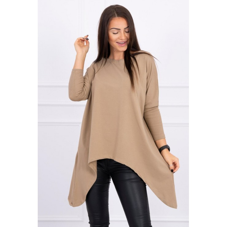 Women's extended tunic MI8875 camel
