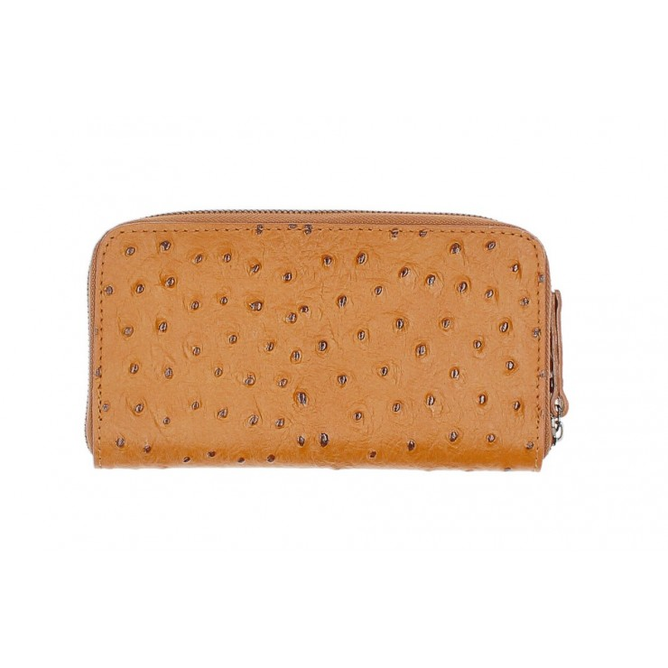 Woman genuine leather wallet 284 cognac Made in Italy