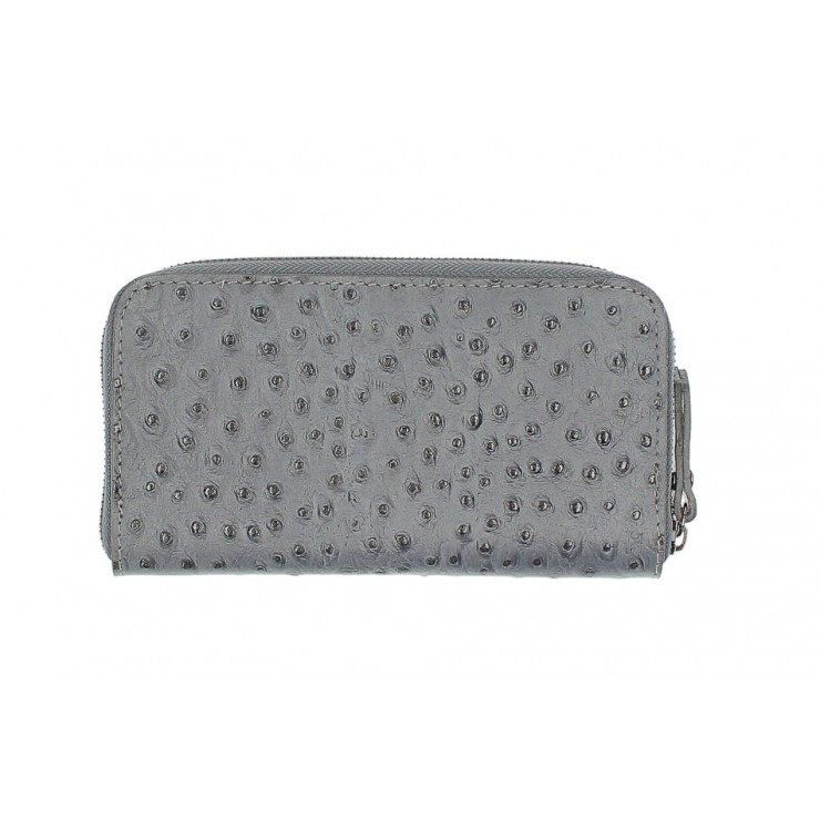 Woman genuine leather wallet 284 dark gray Made in Italy