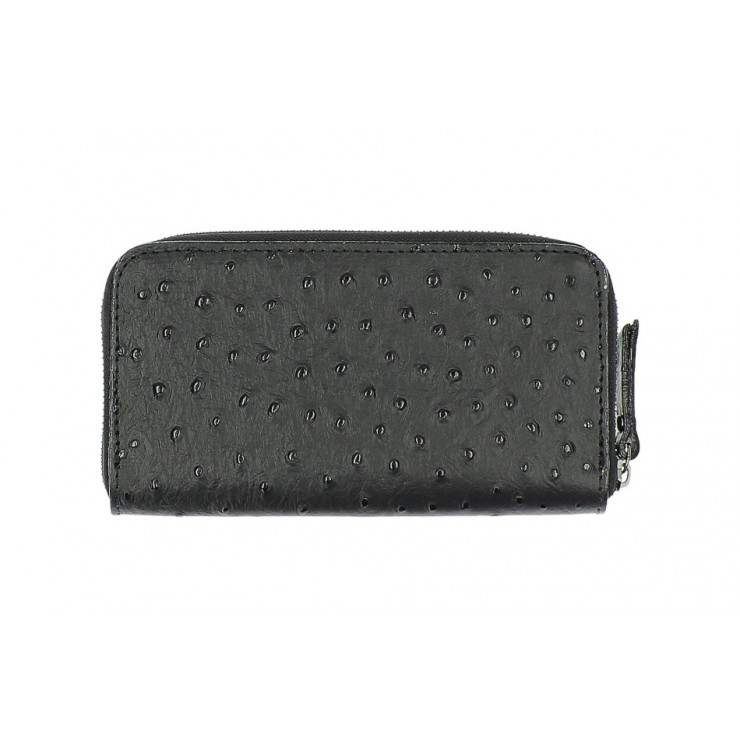 Woman genuine leather wallet 284 black Made in Italy