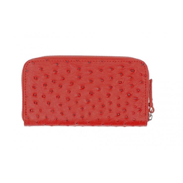 Kožená peňaženka na zips 284 červená Made in Italy