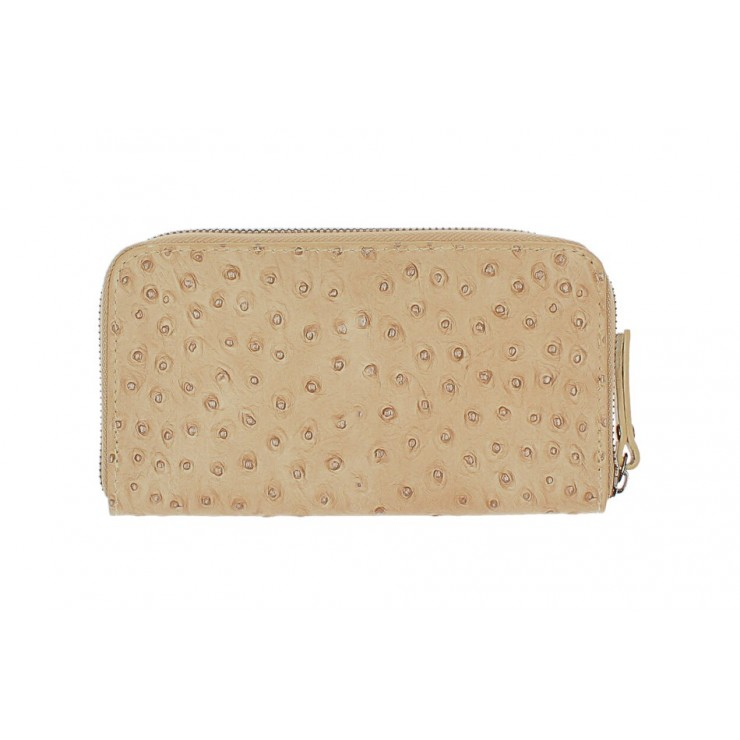 Woman genuine leather wallet 284 taupe Made in Italy