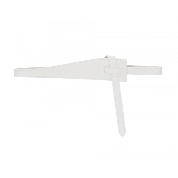 Dámsky kožený opasok 108 biely Made in Italy Univerzálna Biela