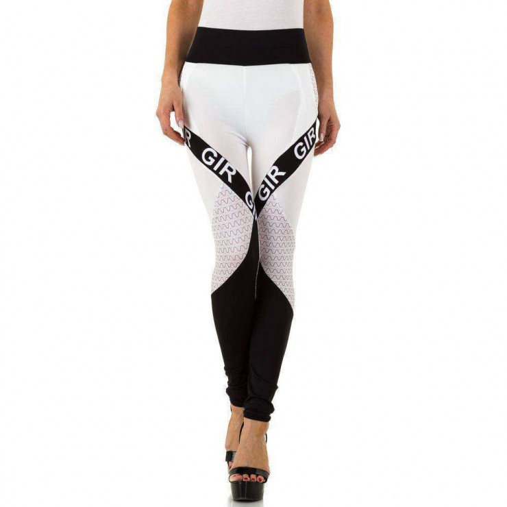 Woman leggings 1306 white-black
