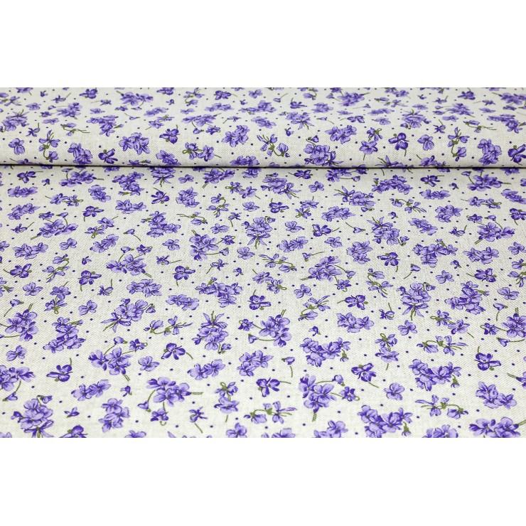Dekoračná látka fialové fialky