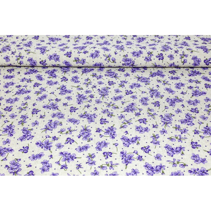 Fabric purple violets