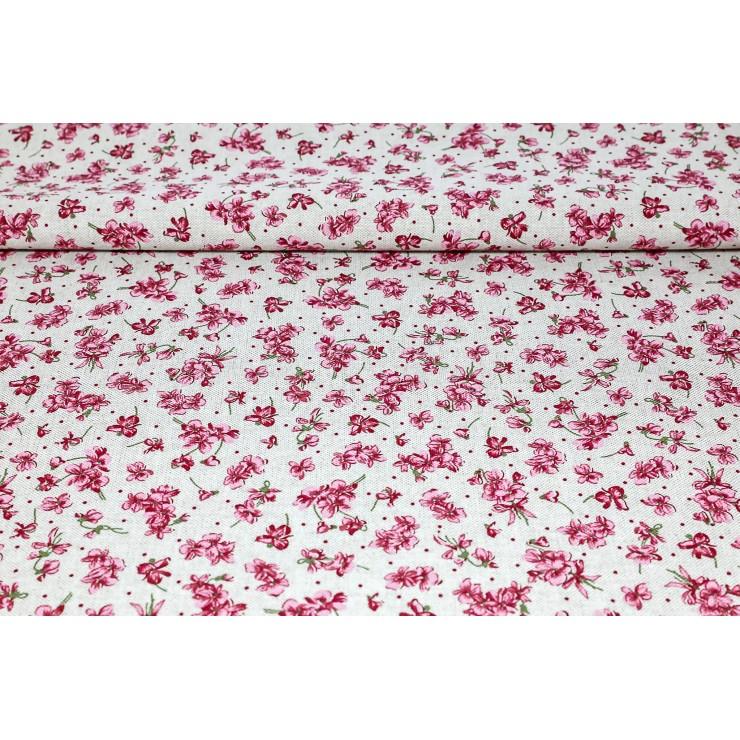 Fabric fuxia violets