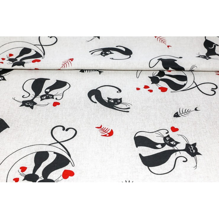 Fabric black cats