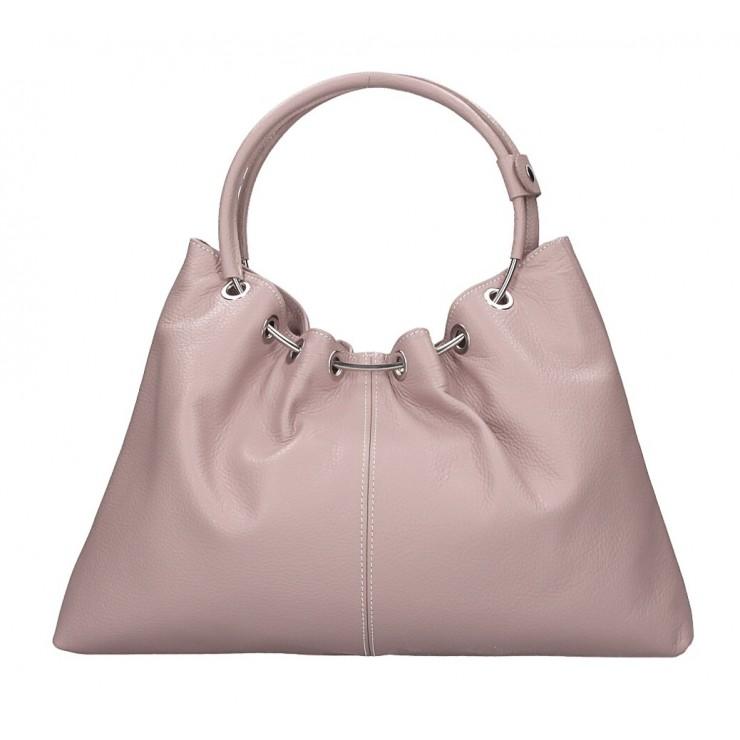 Genuine Leather Handbag 1458 powder pink MADE IN ITALY