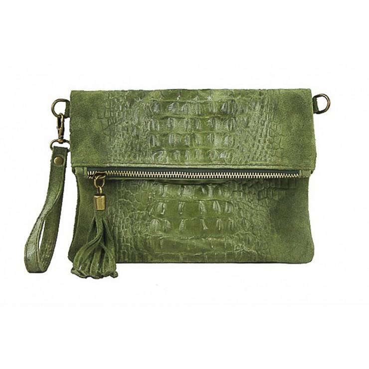 Kožená kabelka krokodíl 630 zelená