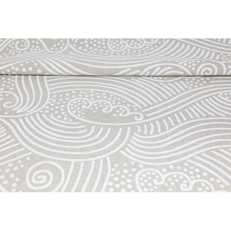 Dekoračná látka biely piesok, šírka 140 cm