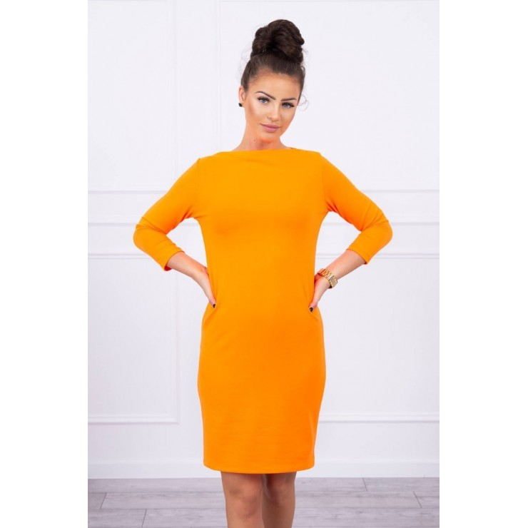 Ladies Dress Classical MI8825 orange neon