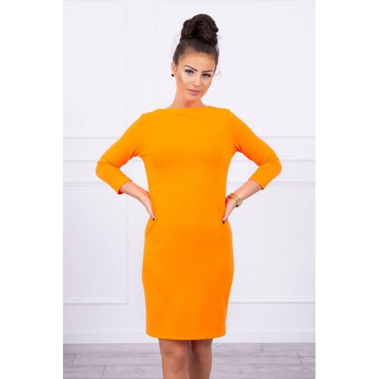 Šaty Classical MI8825 neónovo oranžové