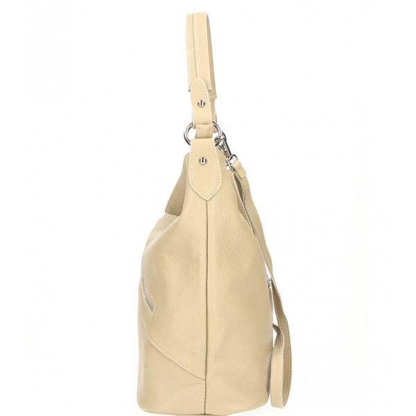 Kožená kabelka 172 béžová Made in Italy Béžová
