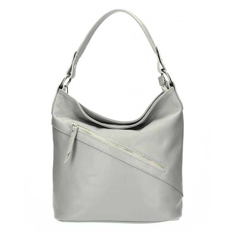Kožená kabelka 172 šedá Made in Italy