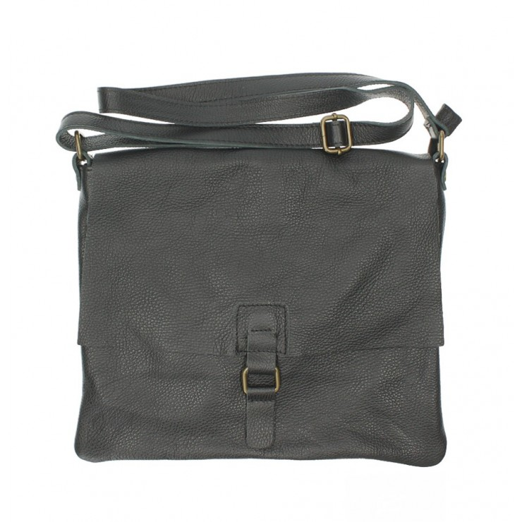 Kožená kabelka na rameno 171 černá Made in Italy