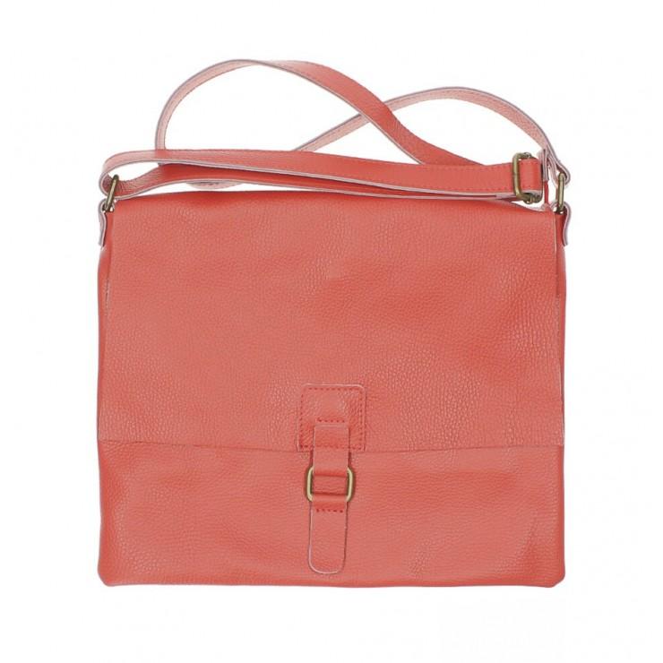 Kožená kabelka na rameno 171 rudá Made in Italy