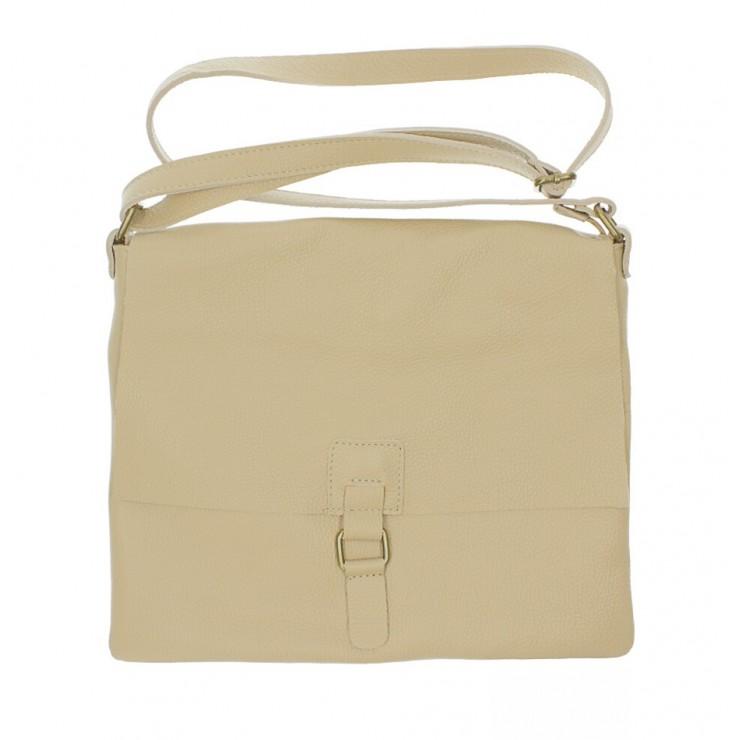 Kožená kabelka na rameno 171 šedohnedá Made in Italy