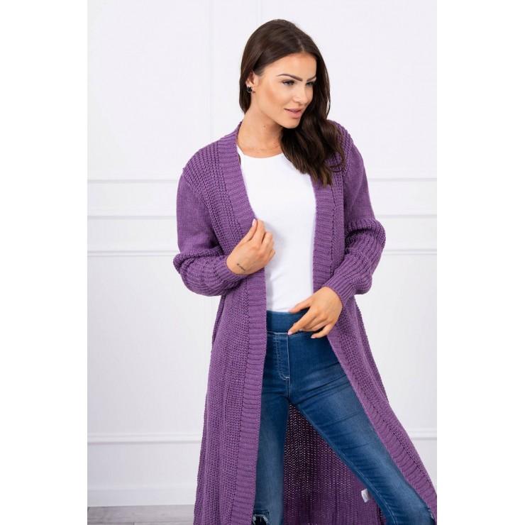 Dámsky sveter dlhý kardigán MI2019-2 fialový