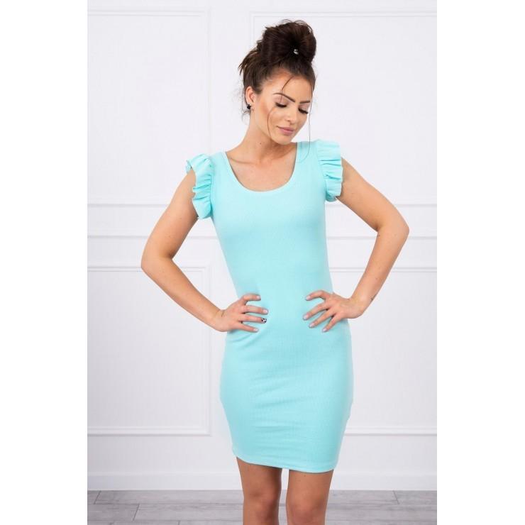 Ladies Dress with frills on the sleeve MI9098 mint