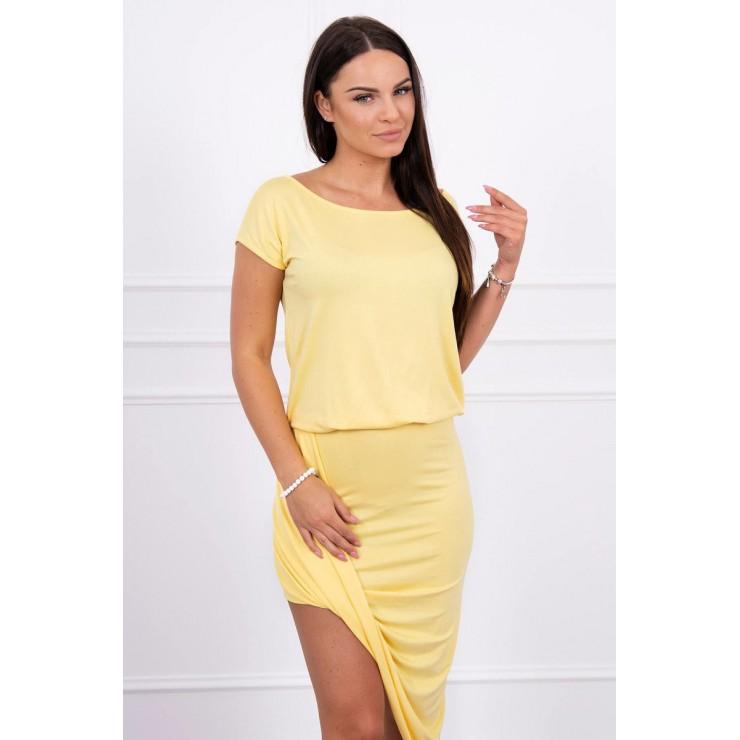Women's asymmetrical dress MI61524 yellow