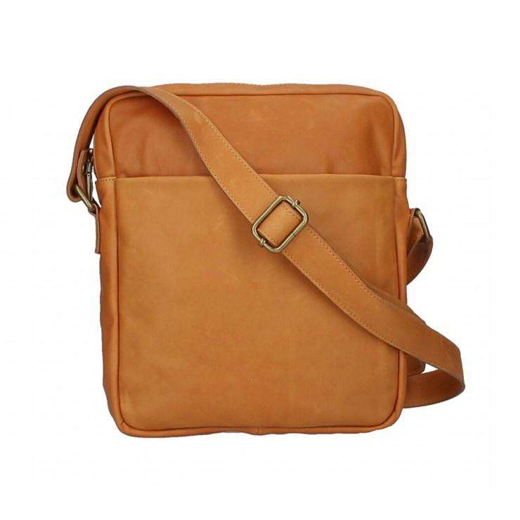 Pánska kožená taška MI66 koňaková