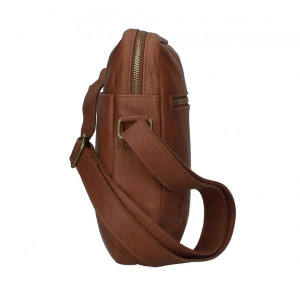 Pánska kožená taška MI66 koňaková Koňak