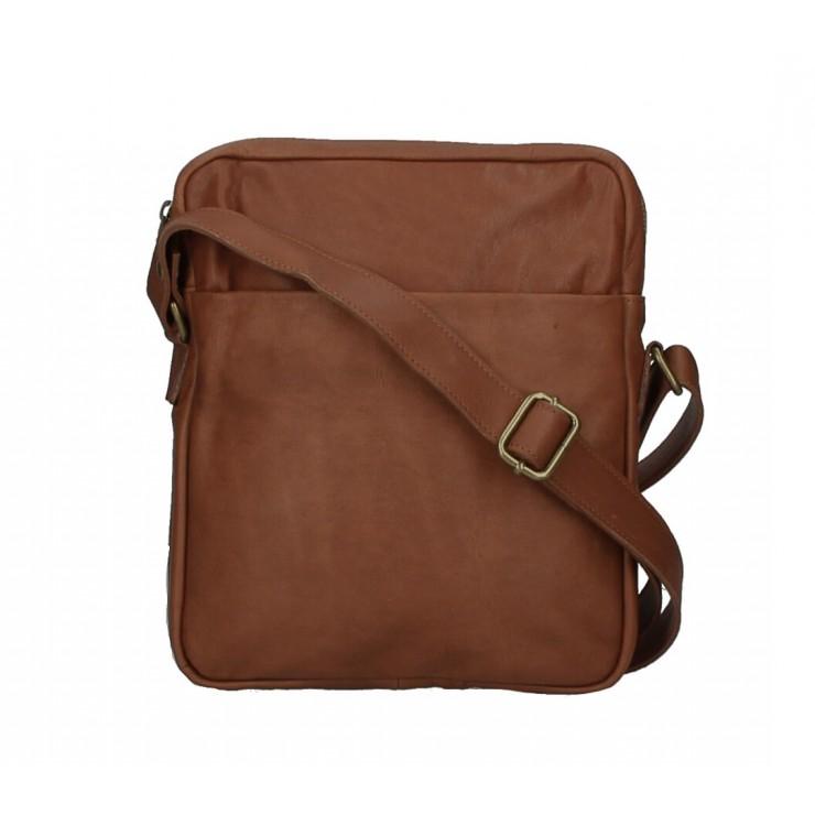 Pánska kožená taška MI66 hnedá