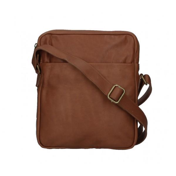 Pánska kožená taška MI66 hnedá Hnedá