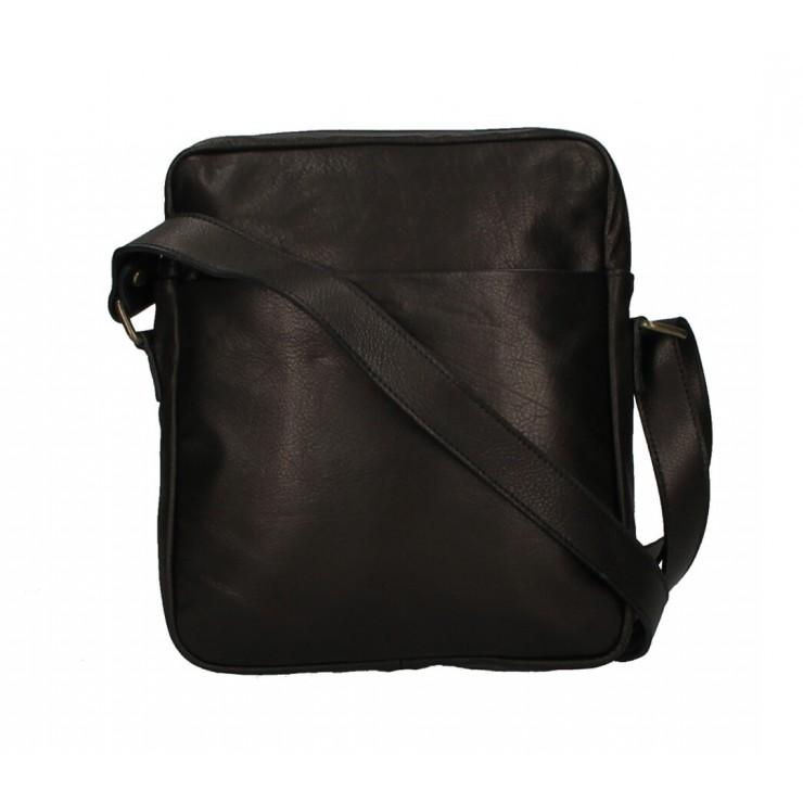 Pánska kožená taška MI66 čierna