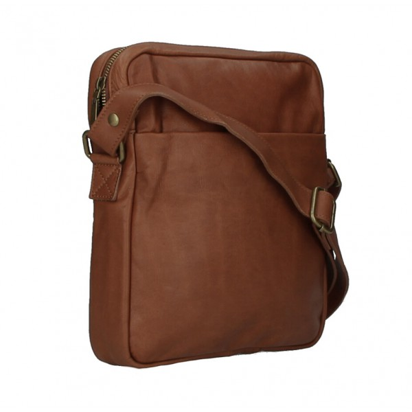 Pánska kožená taška MI66 čierna Čierna