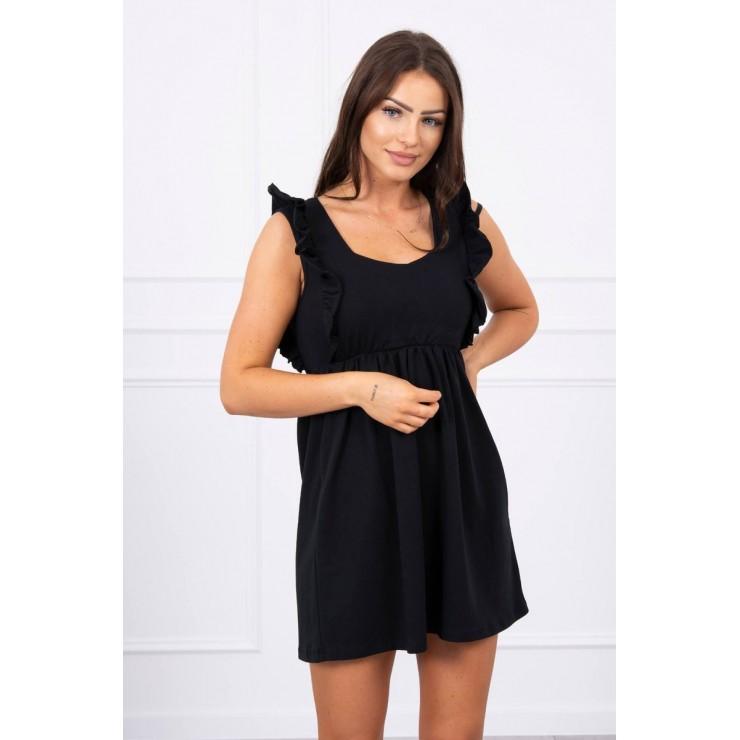 Ladies Dress with frills MI9082 black