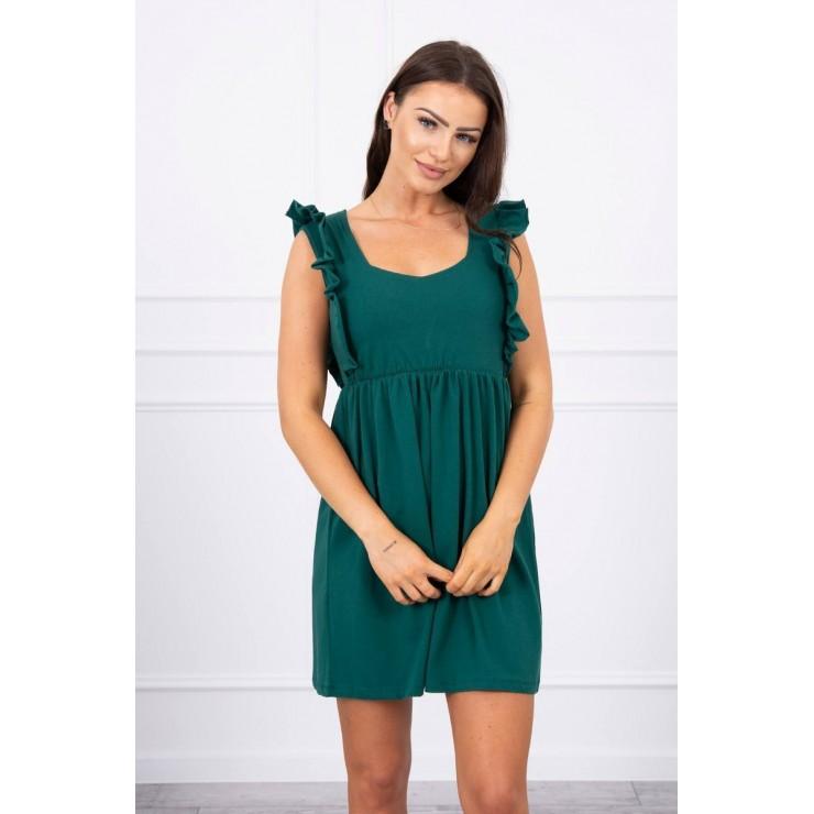 Ladies Dress with frills MI9082 green