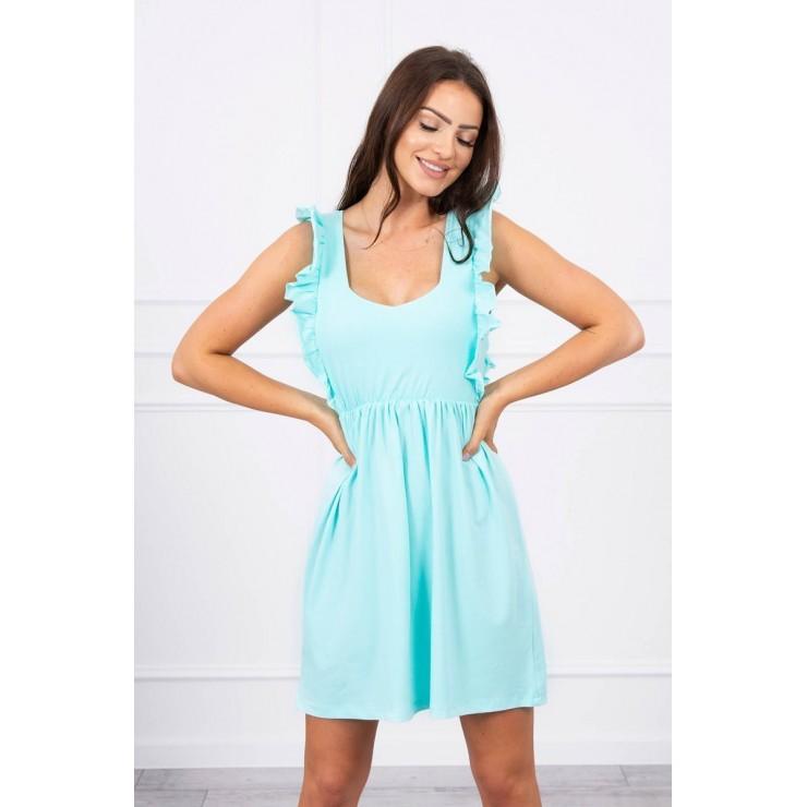 Ladies Dress with frills MI9082 mint