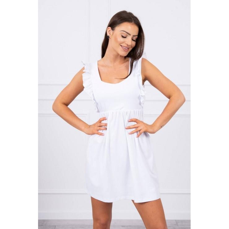Ladies Dress with frills MI9082 white