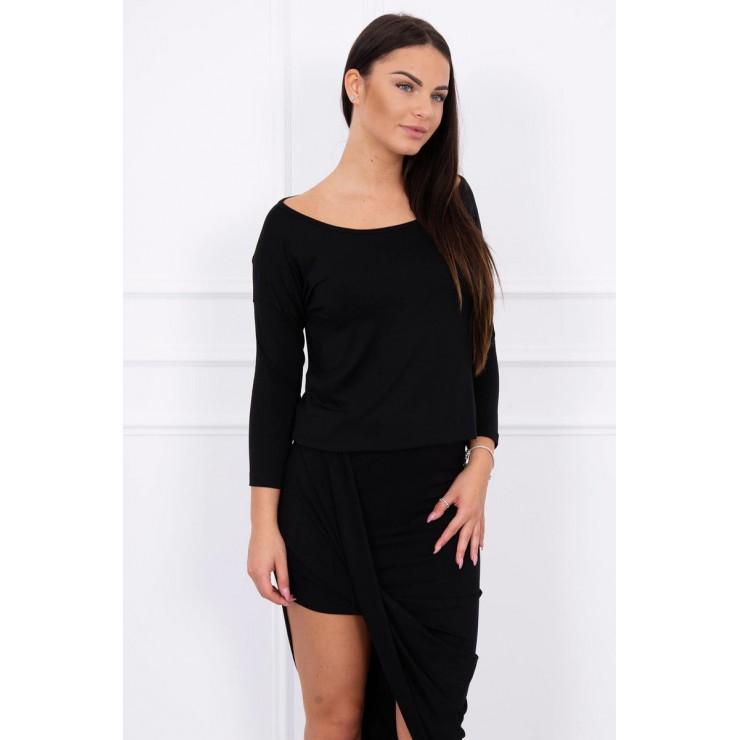 Women's asymmetrical dress MI8923 blackl