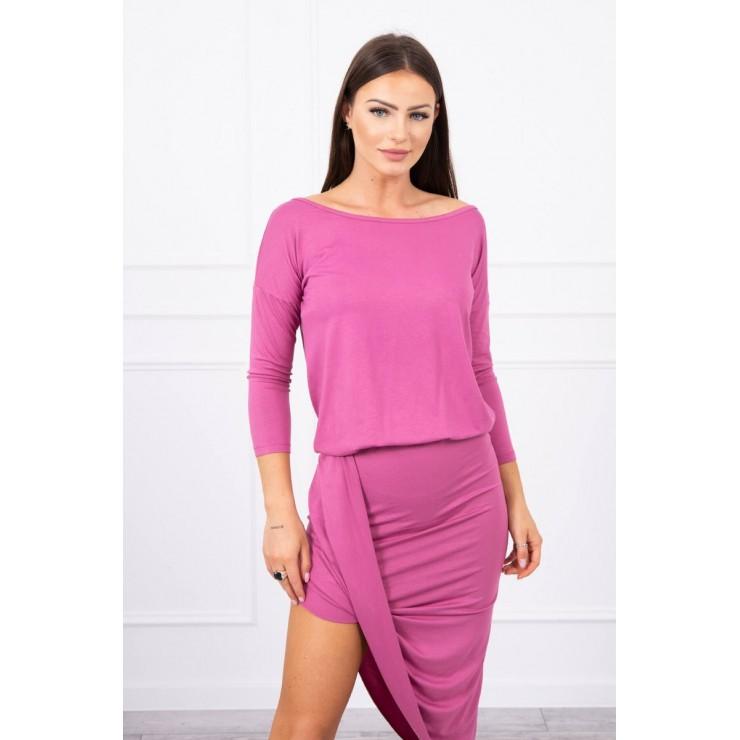 Women's asymmetrical dress MI8923 pink