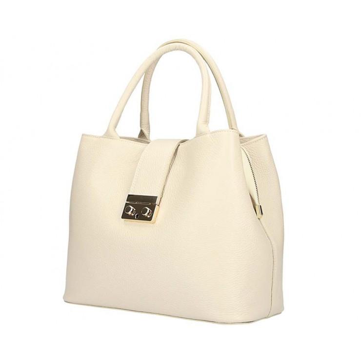 Woman Leather Handbag 1137 beige