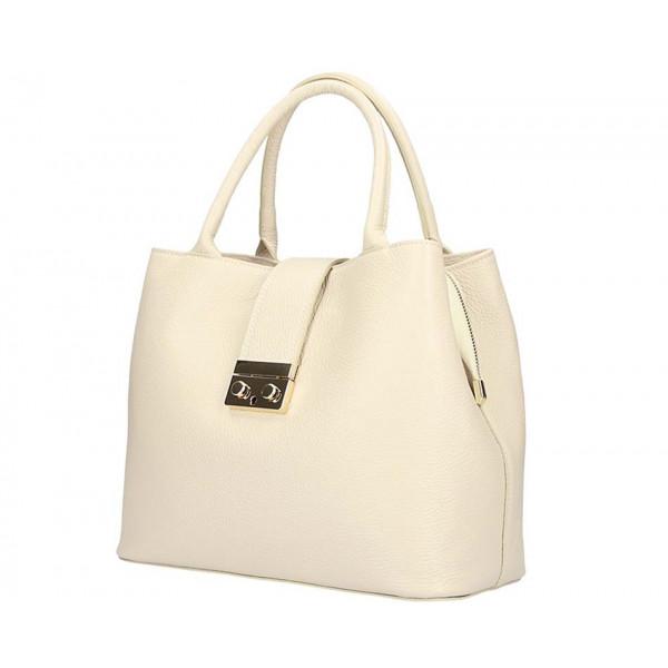 Béžová kožená kabelka 5307