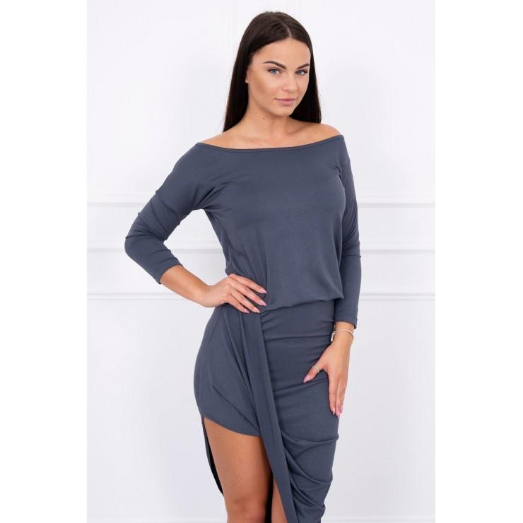 Women's asymmetrical dress MI8923 graphite