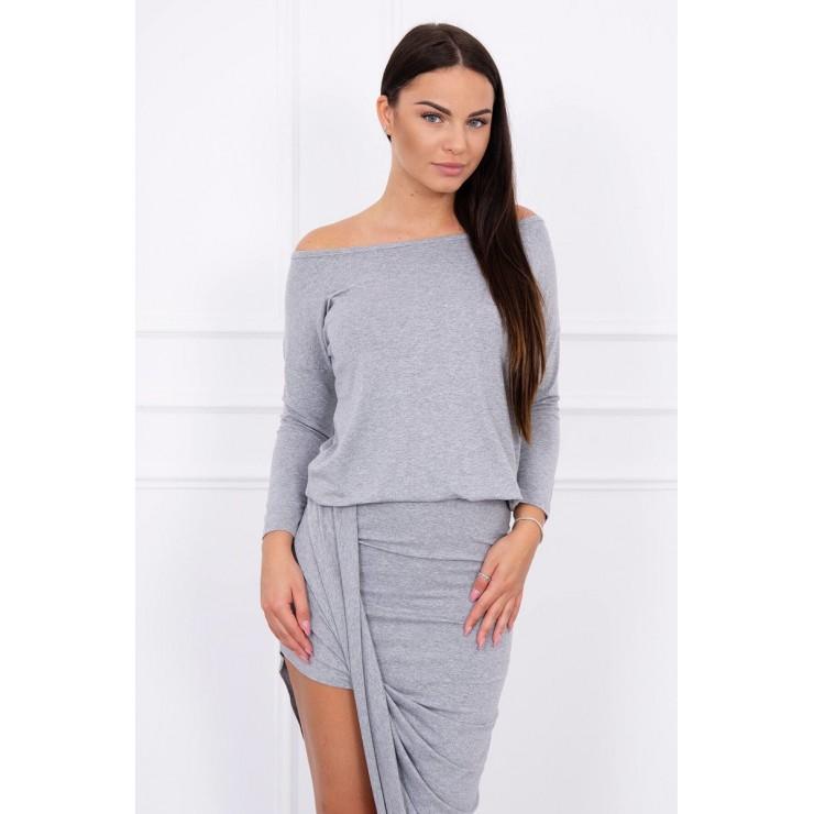 Women's asymmetrical dress MI8923 gray