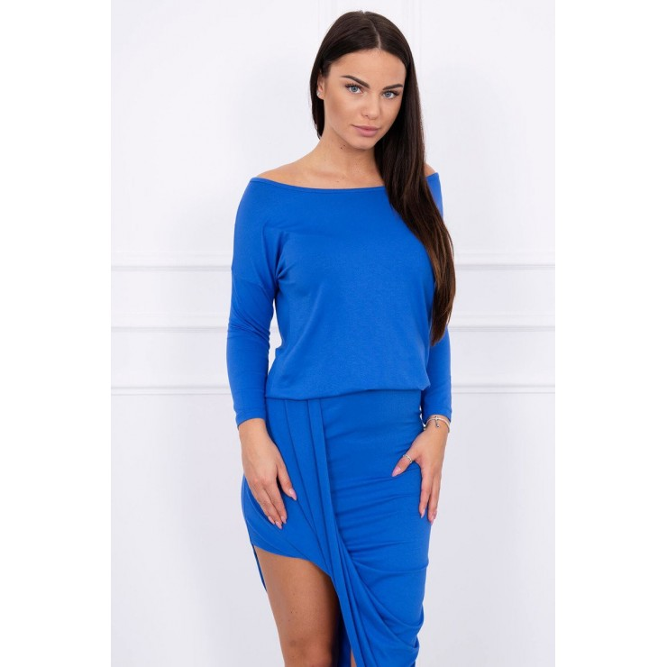 Women's asymmetrical dress MI8923 blue