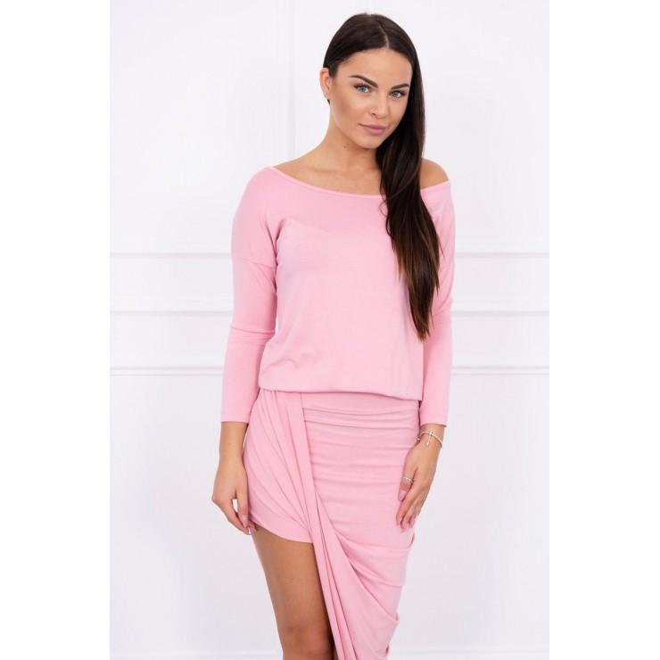 Women's asymmetrical dress MI8923 powder pink