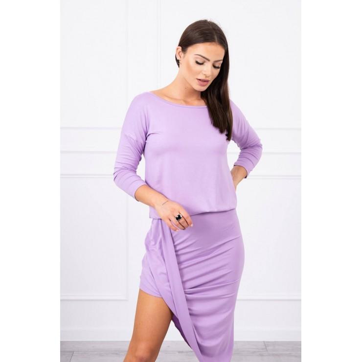Women's asymmetrical dress MI8923 purple