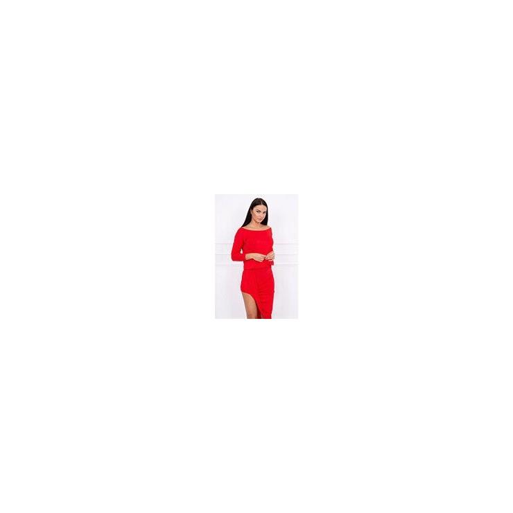 Women's asymmetrical dress MI8923 red