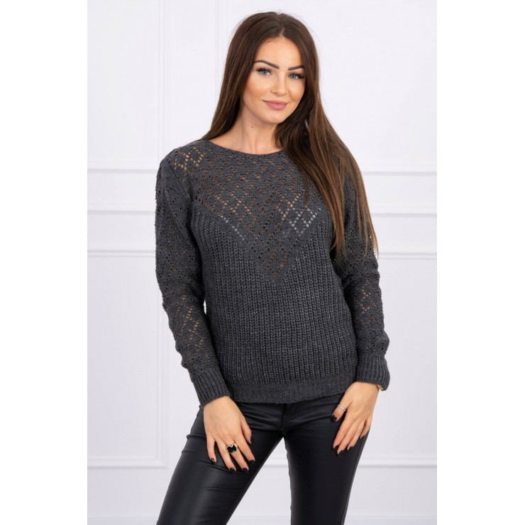 Ladies sweater MI2019-39 graphite