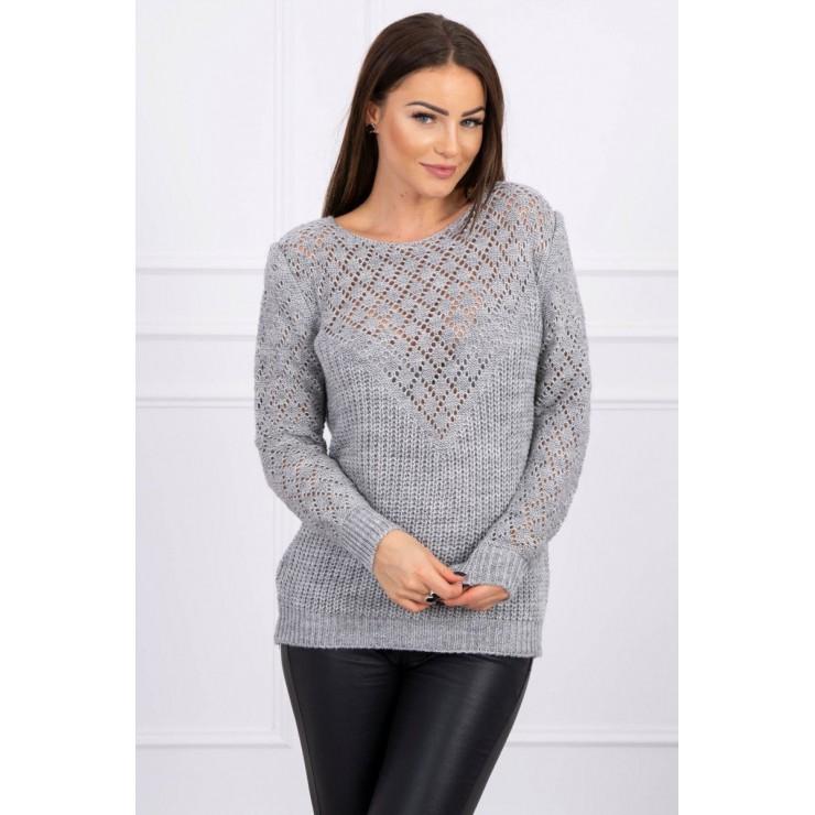 Dámsky sveter MI2019-39 šedý