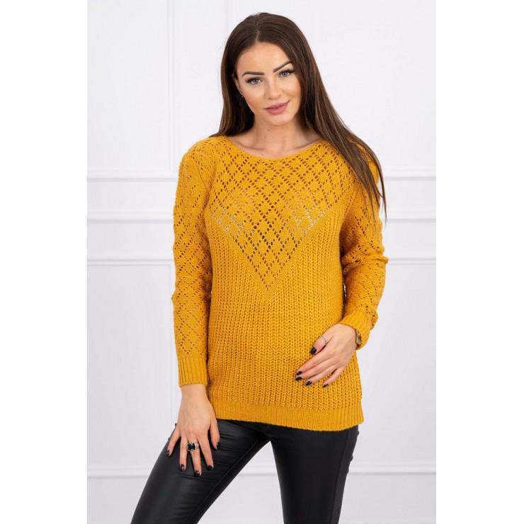 Ladies sweater MI2019-39 mustard