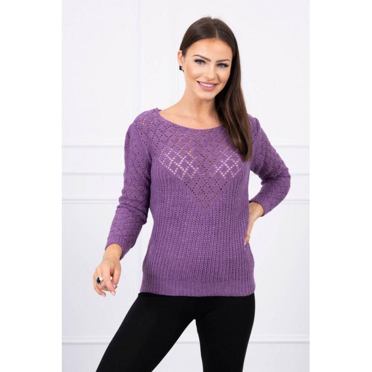 Dámsky sveter MI2019-39 fialový