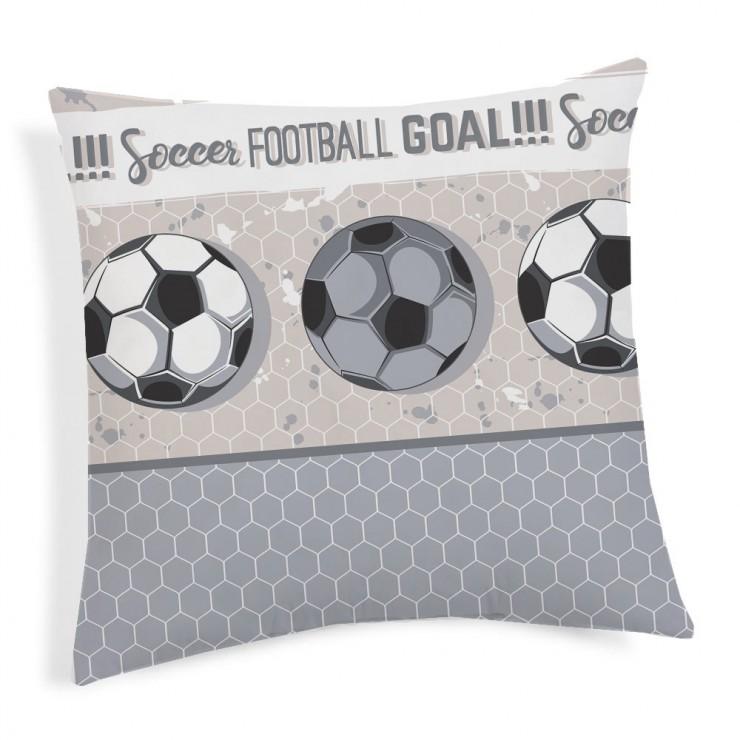 Povlak na polštář Fotbal šedý 40x40 cm Made in Italy